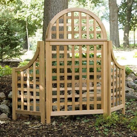 5 Foot Trellis Panels by Trellises Andover 5 Ft Cedar Wood Arch Trellis Take It