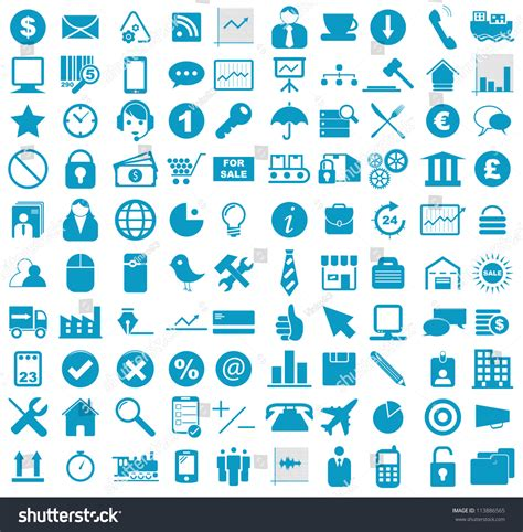 Blue Resume Icons by Vector Illustration Blue Business Media Stock Vector 113886565