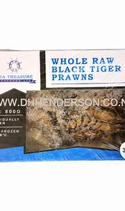 WHOLE RAW BLACK TIGER PRAWNS 31/40 800G – DaHua ...