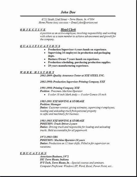 hotel clerk resume occupationalexamplessamples