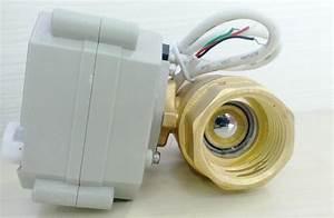 Motorized Brass Water Shutoff Valve With Feedback