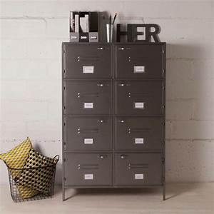 Casier Industriel Metal : meuble industriel pas cher ~ Teatrodelosmanantiales.com Idées de Décoration