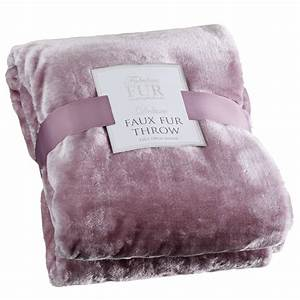 Deluxe Faux Fur Throw Home Soft Furnishings - B&M