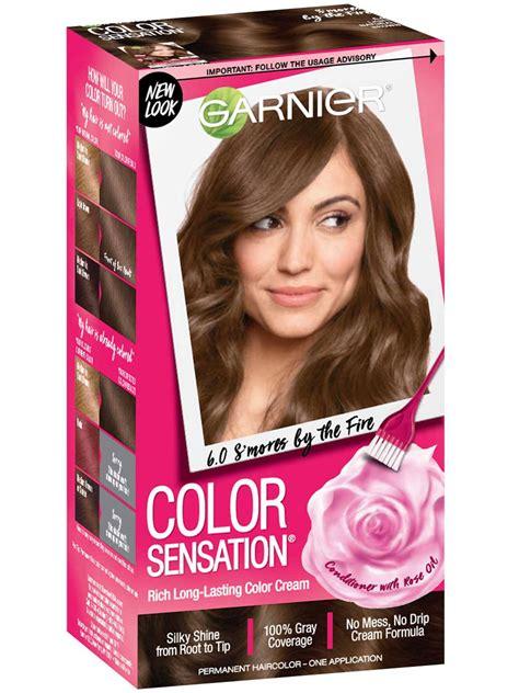 color sensation  light natural brown hair color garnier