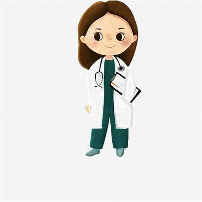 Doctor Hospital Medical Character Clipart Cartoon Material