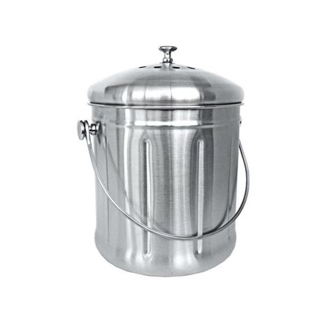 kitchen compost bin stainless steel kitchen compost bin home brands