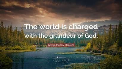 Hopkins Manley Gerard Grandeur Charged God Quote