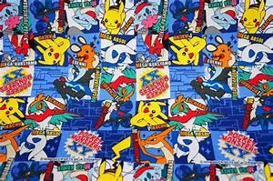pokemon fabric pikachu 196 inch by 21