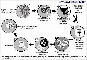 Ielts Academic Writing Task 1  Process Diagram On Sugar