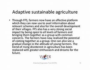 Adaptive sustainable agriculture in Climate Change ...