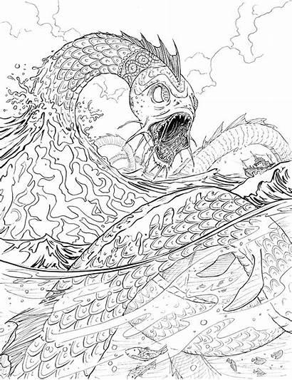 Jormungand Coloring Chase Magnus Serpent Norse Tattoo