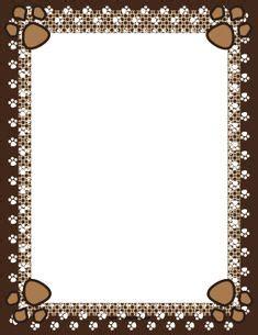 9 Unique Photograph Of Cheetah Outline Printable Best Paw Print Border Paw Print Border Clip Free Doggie
