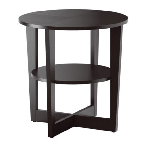 small end tables ikea vejmon side table black brown ikea