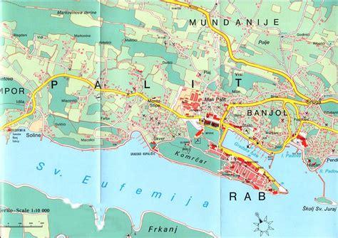 Karte Insel Rab