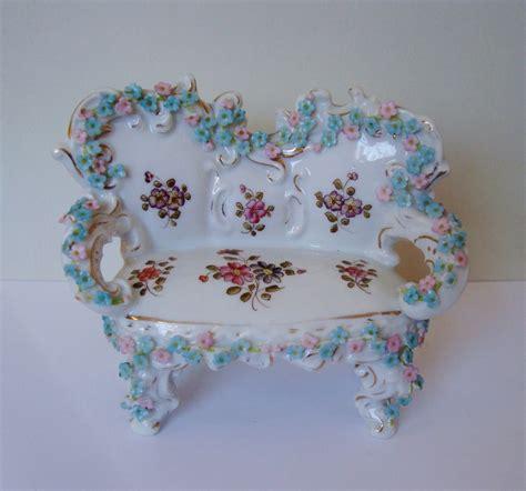 mini settee miniature doll house furniture sofa settee w roses