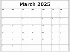 March 2025 Blank Calendar To Print