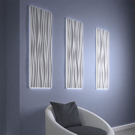 wave shaped acrylic shade led light wall panels