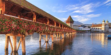 chapel bridge lucerne to the designhotel astoria