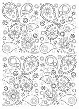 Paisley Coloring Pages Pattern Adult Adults Patterns Drawing Mandala Coloriage Easy Motif Oriental Motifs Detaille Indian Dessin Coloriages Orient Zentangle sketch template