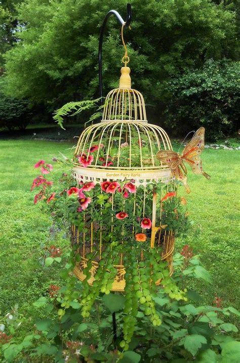 cage planters  spectacular decor   garden