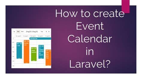 create event calendar laravel youtube