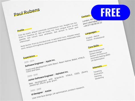 Adobe Illustrator Resume Template by Cv Resume Template For Adobe Illustrator Freebie Supply
