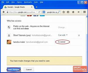 how to change share settings in google docs spreadsheet With google docs spreadsheet to share