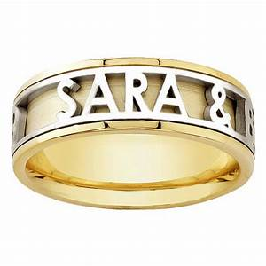 18K Yellow Gold Name Personalized Band 6mm 3003519 Shop
