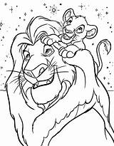 Coloring Disney Pages Lion King sketch template