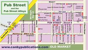 Map - Old Market area, Siem Reap Cambodia