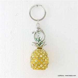 Porte Clé Ananas : porte cl s ananas en strass grossiste bijoux fantaisie parissima ~ Teatrodelosmanantiales.com Idées de Décoration