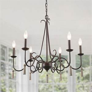 lnc, rustic, french, country, chandelier, , 6, lights, farmhouse, chandeliers, with, wood, droplets, 26, 4
