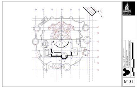 Disney Deck Plan Printable by Blueprints Cinderella Castle Magic Kingdom Park Walt