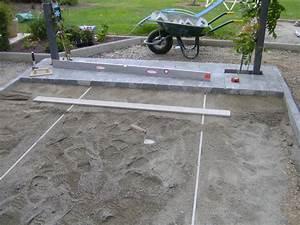 realiser une terrasse en beton terrasse en bois conseils With realiser une terrasse en beton