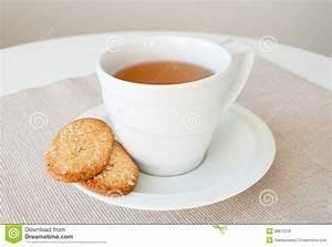 Cup Of Tea With Cereal Biscuits Stock Photo - Image: 28872218