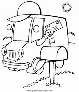 Coloring Mail Truck Postauto Books Drawing Carrier Mestieri Persone Niceladiesnaughtybooks Sheets Transportmittel Lastwagen Template Ausmalen Malvorlage Vehicles Awesome Sketch Posta sketch template