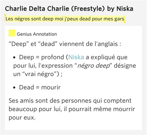 Le Meme Que Moi Lyrics - les n 233 gros sont deep moi charlie delta charlie freestyle