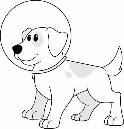Space Dog Suit Helmet Cartoon Vector Clip