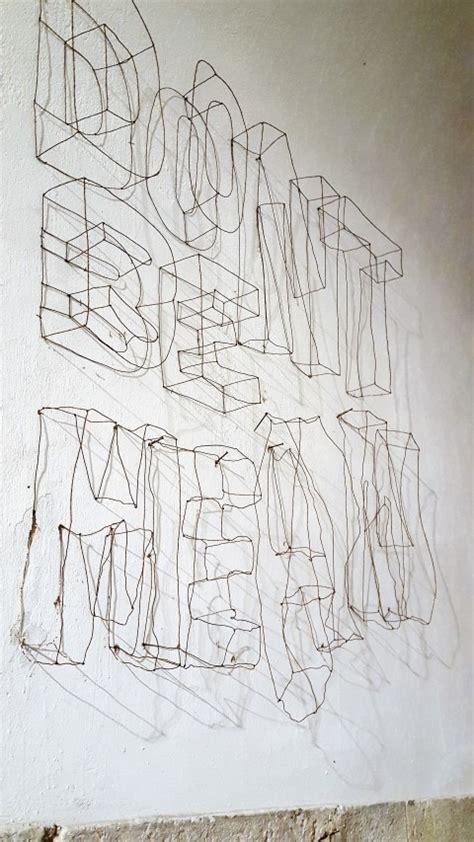 buchstaben aus draht biegen 3d buchstaben aus draht als wandgestaltung im gl 252 ck mein do it yourself portal