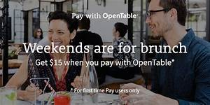 Save $15 on Brunch When You Pay with OpenTable