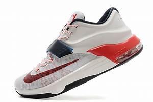 "Nike Kevin Durant KD 7 VII ""USA"" White/Obsidian-University ..."