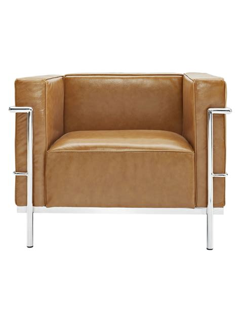 Simple Large Leather Armchair  Modern Furniture