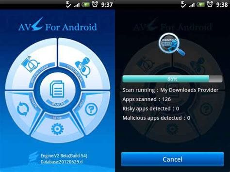 top five antivirus apps for android techarena 5 best free antivirus apps for android security review