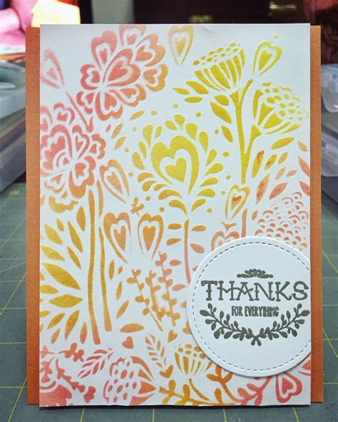 dry embossing  stencils handmade cards card making