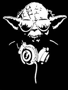 portrait Stencils for Painting | Star Wars YODA headphones ...