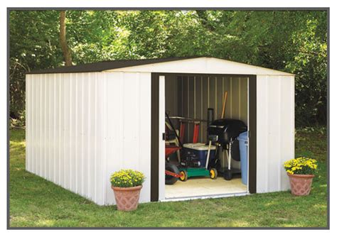 Arrow Galvanized Steel Storage Shed 10x8 by Arrow Newport High Wall Shed Np101267