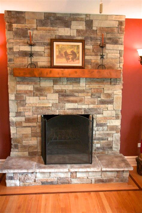stone fireplace   extend   ceiling