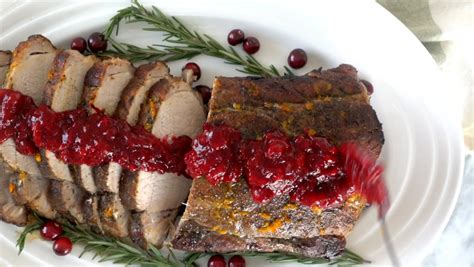 Here's how to cook a beef tenderloin roast for a. Pioneer Woman Pork Loin With Cranberry Sauce Recipe / Pork ...