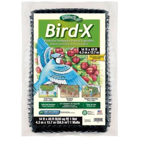 bird x 14 ft x 45 ft dalen products netting and 3 4 in