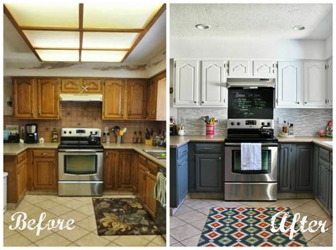 before and after photos of painted kitchen cabinets مطبخ مختلف بعد التعديل المرسال 9888